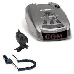 RX65 Red Professional Series Radar/Laser Detector with Accessories Bundle (Red)