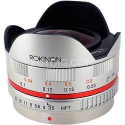 FE75MFT-S - 7.5mm F3.5 UMC Fisheye Lens for Micro Four Thirds (Silver)