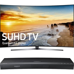 "65"" Class KS9800 Curved 4K SUHD TV + Samsung UBDK8500 4K UHD Blu-Ray Player"