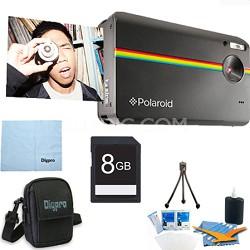 """Z2300 10MP 2x3"""" Instant Digital Camera with ZINK Zero Ink (Black) 8GB Bundle"""
