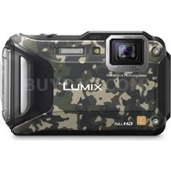 LUMIX DMC-TS6 WiFi Enabled Tough Adventure Camouflage - OPEN BOX