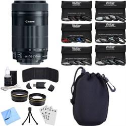EF-S 55-250mm f/4-5.6 IS STM Lens (8546B002) Photography Bundle
