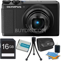 "XZ-10 12MP Digital Camera f1.8 Lens 3"" Touch LCD 1080p Video - Black 16 GB Kit"