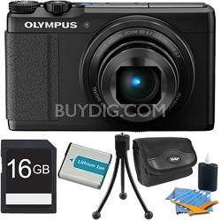 "XZ-10 12MP Digital Camera f1.8 Lens 3"" Touch LCD 1080p Video - Black 16 GB Kit"