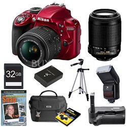 D3300 DSLR HD Red Digital Camera Baby and Family Photographer Bundle