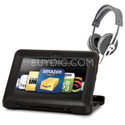 Amazon Kindle Fire HD 8.9 Black Defender Case and Retro Headphone Bundle