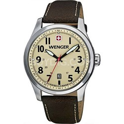Men's Terragraph Watch - Sand Dial/Brown Leather Strap