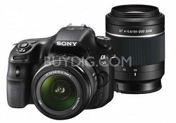 Sony Alpha SLT-A58 20.1MP DSLR with 2 Lens