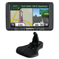"nuvi 2595LMT 5.0"" GPS Navigation System Lifetime Map Traffic Update Mount Bundle"