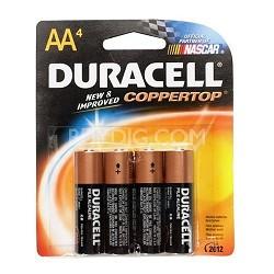 4 Pack AA Alkaline Batteries  (Duracell CopperTop)