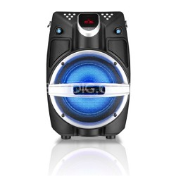 "6.5"" Powered Bluetooth PA System with Mic & LED Woofer - Beach Black"