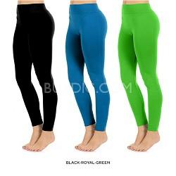 Seamless Full Length Leggings (Lime Green)  One Size