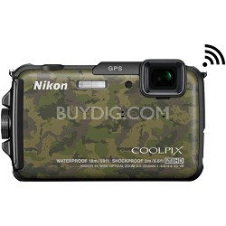 COOLPIX AW110 16MP Waterproof Camouflage Digital Camera - Factory Refurbished