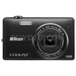 COOLPIX S5200 16MP Digital Camera with Built-In Wi-Fi (Black) Refurbished