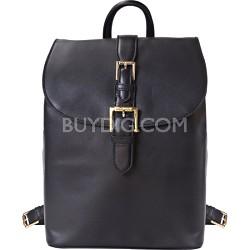 """Isaac Mizrahi """"KATHRYN"""" Mini Camera Backpack in Genuine Leather - Black"""