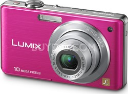 DMC-FS7P LUMIX 10.1 MP Compact Digital Camera w/ 4x Optical Zoom (Pink)