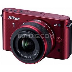 1 J2 SLR Red Digital Camera w/ 10-30mm VR Lens (27575)