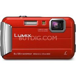 LUMIX DMC-TS30 Active Lifestyle Tough Red Digital Camera