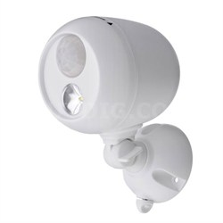 MB330 Wireless LED Spotlight with Motion Sensor & Photocell - White - OPEN BOX