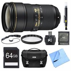 24-70mm f/2.8E ED VR AF-S NIKKOR Zoom Lens 64GB Bundle