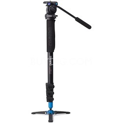 Video Monopod with Flip Lock Legs, S2 Head and 3 Leg Base (Black) - A38FBS2