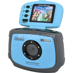 Xtreme C4WP 12 MP Waterproof Digital Camera with flip-up screen (Blue) OPEN BOX