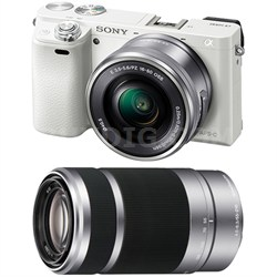 Alpha a6000 Mirrorless Camera w/ 16-50mm & 55-210mm Power Zoom Lenses