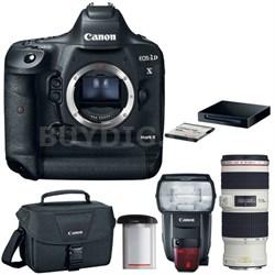EOS-1D X Mark II Digital SLR Camera Body Premium Kit w/ Deluxe Lens Bundle