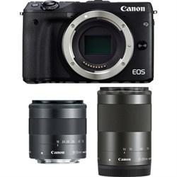 EOS M3 24.2MP Black Mirrorless Camera with EF-M 18-55 & EF-M 55-200mm Lens