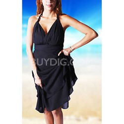 100 Way Wrap Skirt Dress, Solid Black (One Size)