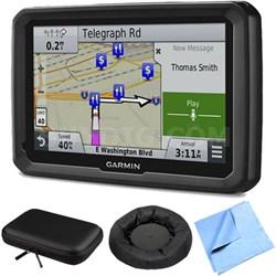 "dezl 770LMTHD 7"" GPS w/ Lifetime Map/Traffic Updates Case/Friction Mount Bundle"