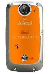 Active DV-1 CO Waterproof/Shockproof 1080P Pocket Video Camera Citrus Orange