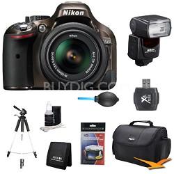 D5200 Bronze Digital SLR Camera with 18-55mm Lens and SB-700 AF Speedlight Kit