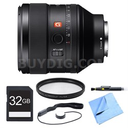 FE 85mm F1.4 GM E-Mount Lens, Filter, and Card Bundle