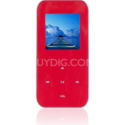 """4 GB MP3 Video Player with 1.5"""" LCD, FM Radio, Recorder (Red)"""