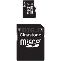 MicroSD HC 8GB C10 U1 With SD Adapter