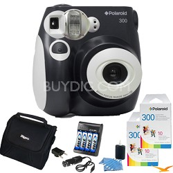 300 Instant Camera, Black Value Bundle