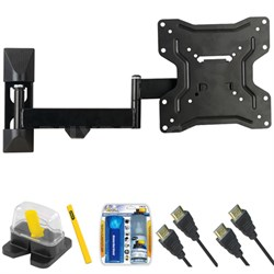 "DIY Basics Medium Full Motion TV Mount & Set Up Kit for 13""-37"" TVs up to 50LB"