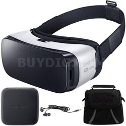 Gear VR Virtual Reality Headset - SM-R322NZWAXAR-Ear Buds Wireless Charge Bundle