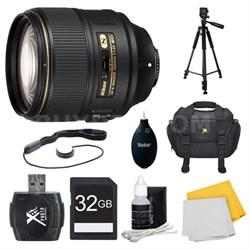 AF-S NIKKOR 105mm f/1.4E ED Lens. 32GB Card, and Accessories Bundle
