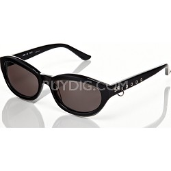 Black Frame, Grey Lens With Loop Detail Sunglasses
