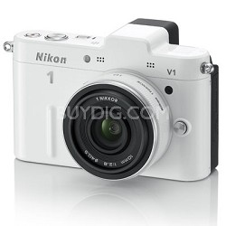 1 V1 SLR White Digital Camera w/ 10-30mm VR Lens