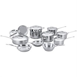 Chef's Classic Stainless Cookware 17 pc.Set (77-17) - Refurbished