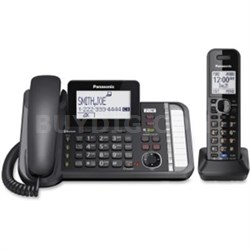 2-Line Corded Telephone System with 1 Cordless Handset - KXTG9581B