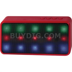 Prysm Wireless Bluetooth Speaker with Dazzling LED Lights - Red