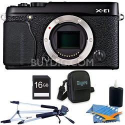 X-E1 16.3MP Body Only Digital Camera Black 16 GB Kit