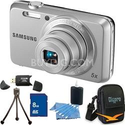 ES80 12MP Silver Digital Camera 8 GB Bundle