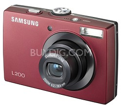 "L200 10MP 2.5"" LCD Digital Camera (Red)"