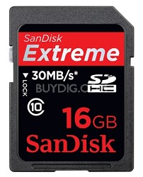 16 GB Extreme III 30MB/s Secure Digital HC Memory Card (SDSDX3-016G-A31}