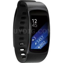 SM-R3600DAAXAR Gear Fit2 Smartwatch with Large Band - Black